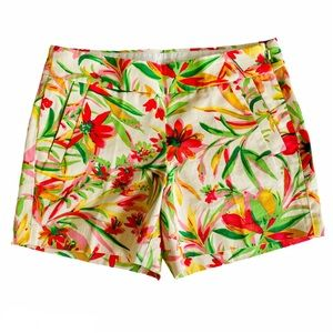 J Crew Chino City Fit Tropical Floral Print Shorts